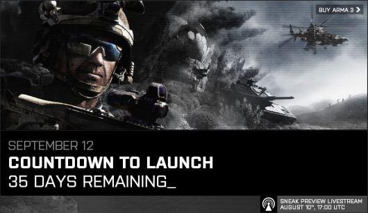 ArmA 3 Release Countdown